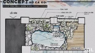 Bản vẽ thiết kế hồ cá koi
