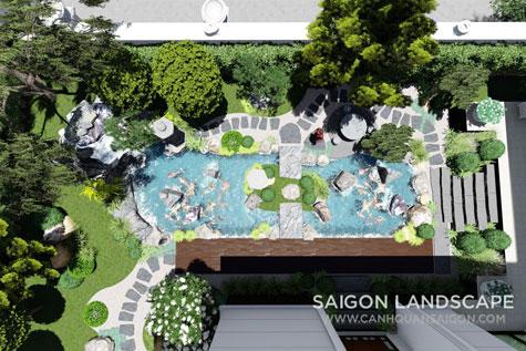 thiết kế thi công sân vườn biệt thự phong cách nhật bản tại quận 3