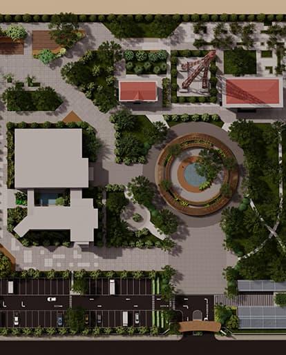 thiết kế cảnh quan đài truyền hình bình phước - Cảnh Quan Sài Gòn