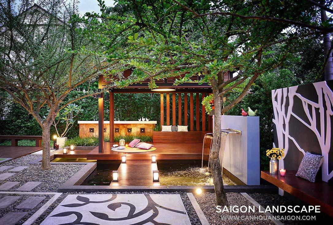 Thiết kế sân vườn đẹp và đơn giản theo phong thủy