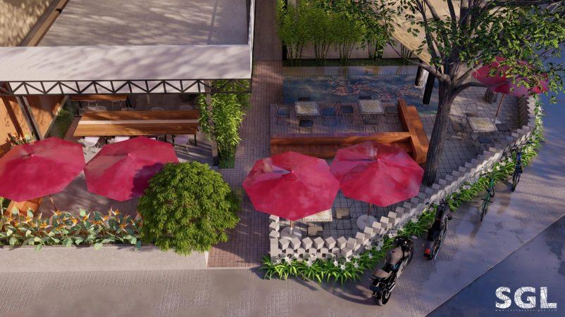 Xu hướng thiết kế quán cafe sân vườn lãng mạn nhất hiện nay