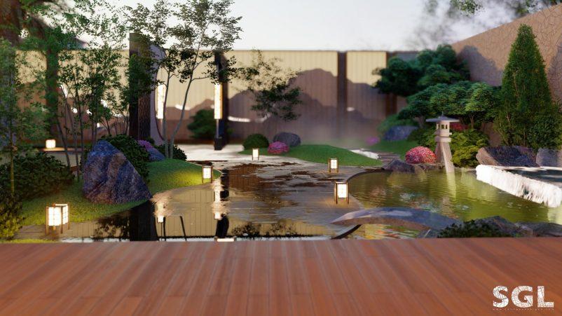 Sân vườn phong cách Nhật Bản