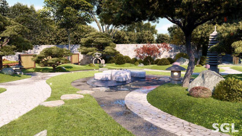 Điều ấn tượng về sân vườn thiền Nhật